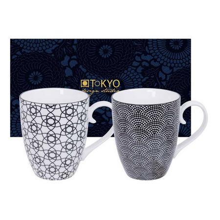 Nippon Mug Set Dot & Stripe