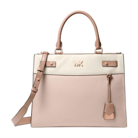 Sloan Editor Colour Block Shoulder Bag Pink