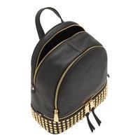 Rhea Studded Backpack Medium Black