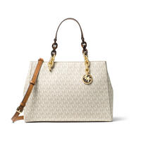 Cynthia Medium Satchel Bag Cream