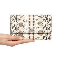 Snake Embossed Medium Clutch Wallet