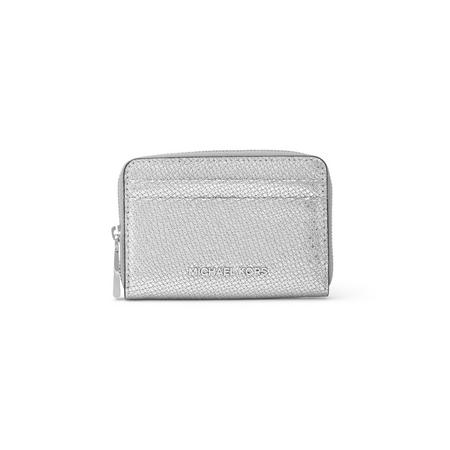 Zip-Around Card Case Wallet Metallic