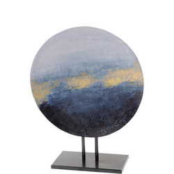 Blue And Gold Abstract Iron Sculpture