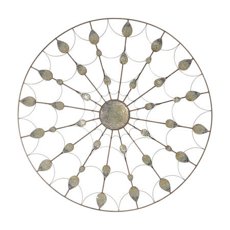 Blue Fauna Motif Mosaic Decorative Disc