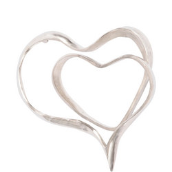 Silver Abstract Heart Wall Sculpture