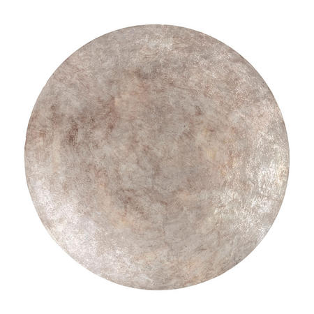 Burnished Silver Abstract Iron Wall Disc Small