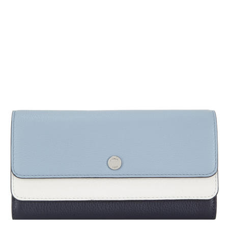Colour Block Logo Flap Wallet
