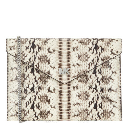 Snake Embossed Clutch Bag
