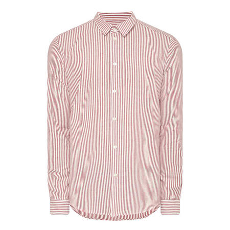 Liam Stripe Shirt Red