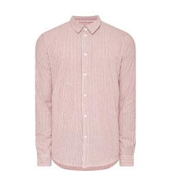 Liam Stripe Shirt Red