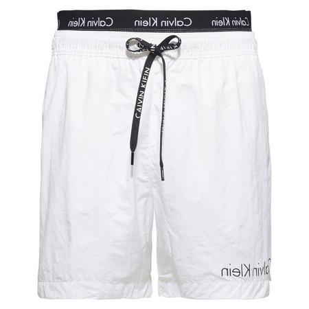 Mid-Length Core Logo Tape Swim Shorts Blue