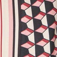 Redus Geometric Print Top