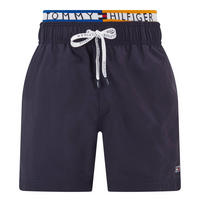 Logo Waistband Swim Shorts Navy