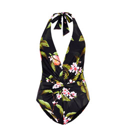 Twissa Peach Blossom Twist Swimsuit Black