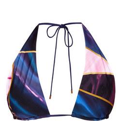 Sieraa Balmoral Reversible Bikini Top Blue