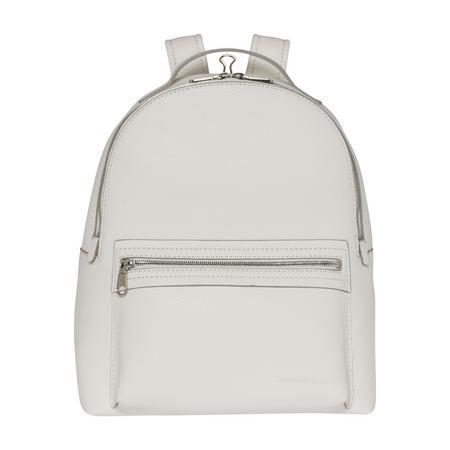 Medium Round Backpack White
