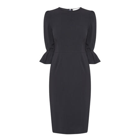 Ruched Sleeves Pencil Dress