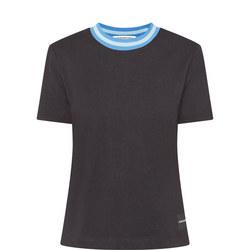Contrast Neck T-Shirt