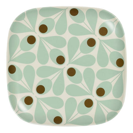 Bamboo Side Plate Acorn Spot Duckegg