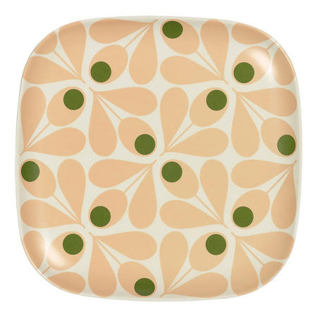 Bamboo Side Plate Acorn Spot Pale Rose