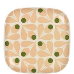 Bamboo Side Plate Acorn Spot Pale Rose