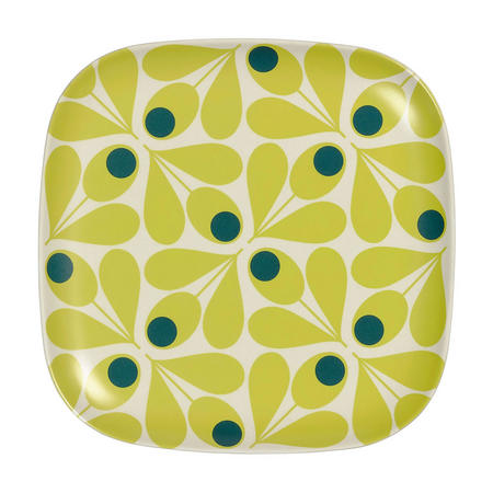 Bamboo Side Plate Acorn Spot Elderflower