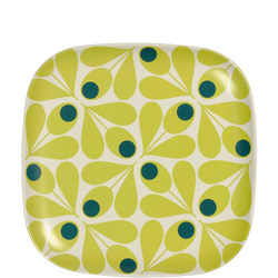 Bamboo Side Plate Acorn Spot Elderflower