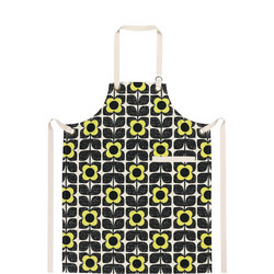 Apron Textured Square Flower Yellow