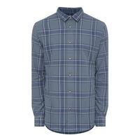 Shadow Check Shirt Blue