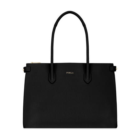Pin East West Tote Bag Large Black