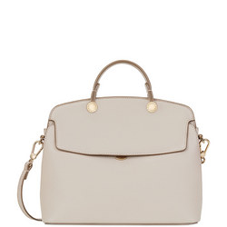 Piper Top Handle Satchel Cream