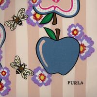 Magnolia Print Silk Scarf Pink