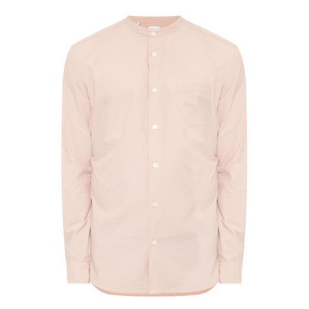 China Collar Long Sleeve Shirt Pink