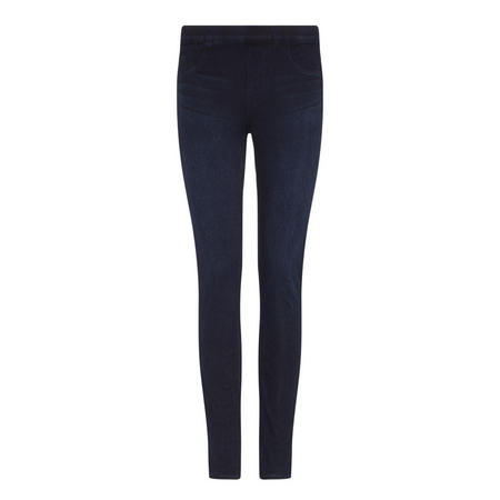 Jean-Ish Ankle Leggings Navy
