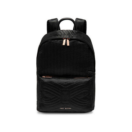 Akija Quilted Bow Backpack Black
