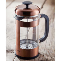 Eight-Cup Copper Cafetiere