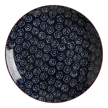 Boho  Plate Shibori 27Cm Blue