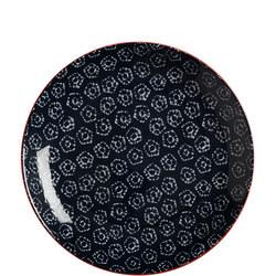 Boho Plate Shibori 20Cm Blue