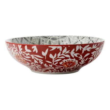 Boho Coupe Bowl Batik 18Cm  Grey