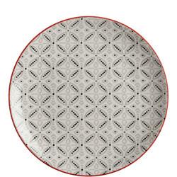 Boho Plate Batik 20cm Grey