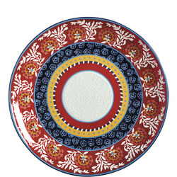 Boho Round Platter 36.5 Cm  Multicolour