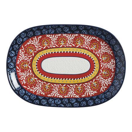 Boho Oblong Platter 40 Cm Multicolour