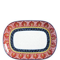 Boho Oblong Platter 45Cm  Multicolour