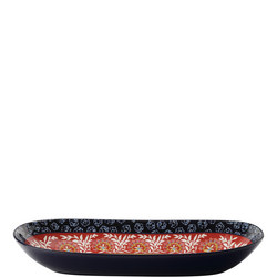 Boho Oblong Bowl 43Cm Multicolour