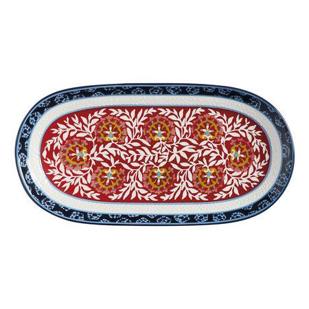 Boho Oblong Platter 33M Multicolour