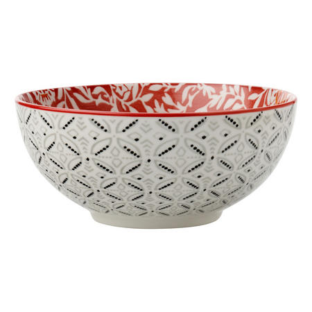 Boho Bowl Damask 12.5 Cm Red