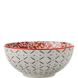 Boho Bowl Damask 12.5 Cm Red