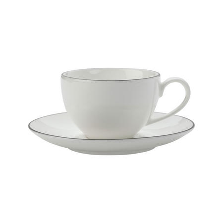 Edge Demi Cup And Saucer 100Ml White