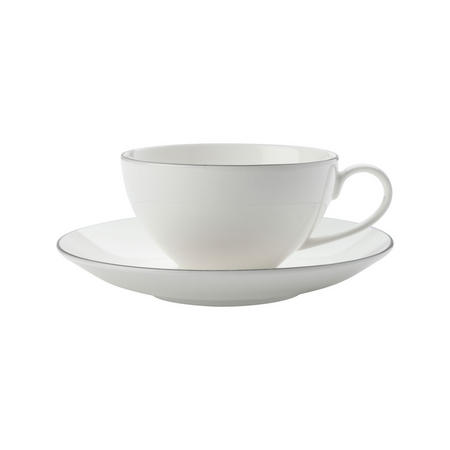 Edge Cup And Saucer 250 Ml White