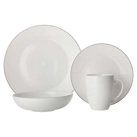Edge Dinner Set 16Cm   White